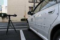 PONTOSでの自動車ドア振動計測の様子