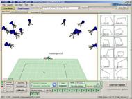 MAC 3D制御ソフトウェアCortexでの トラッキングの様子