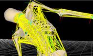 筋骨格解析ソフトウエアnMotion musculous(エヌモーションマスキュラス)         nMotion計算結果で筋負担場所の推定