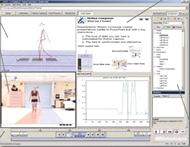 Motion Composerによるレポート作成画面