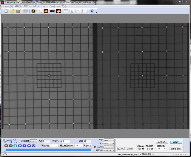 二分岐光学系TM2S 左右位置調整用チャート