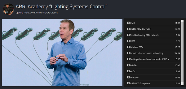 ARRIが照明システム制御に関するビデオ講義を配信